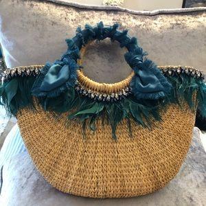 Gorgeous Sam Edelman straw bag!